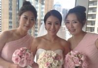 Bride kate with bridesmaid